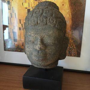 Vintage Buddha Head Statue